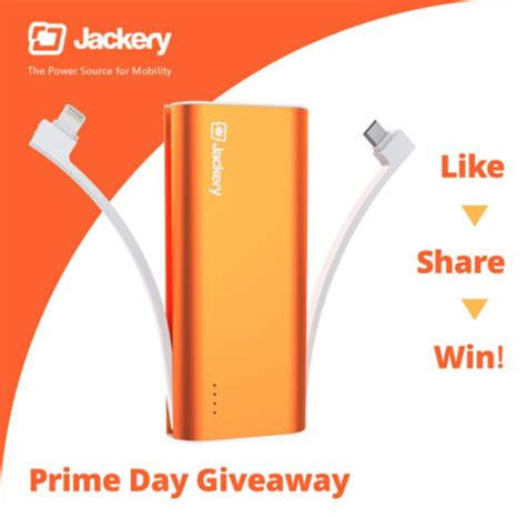 Prime Day Giveaways - jackery bolt external battery prime day giveaway