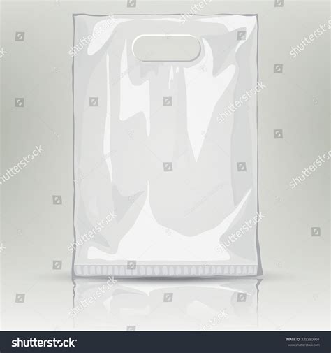 Disposable Plastic Bag Mock Up Template Of Empty Plastic Container Nylon Bag Illustration Plastic Bag Design Template