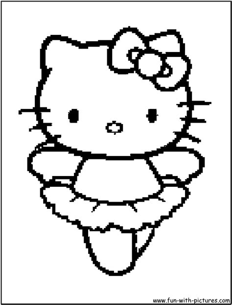 coloring page hello kitty ballerina hellokitty ballerina coloring page
