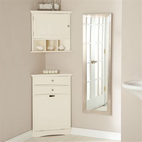 mirrored and wooden corner bathroom cabinets and cupboards bathroom corner linen cabinet