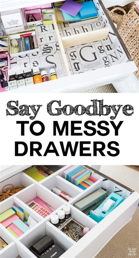 Organizing A Desk Without Drawers Diy Desk Drawer Dividers In My Own Style