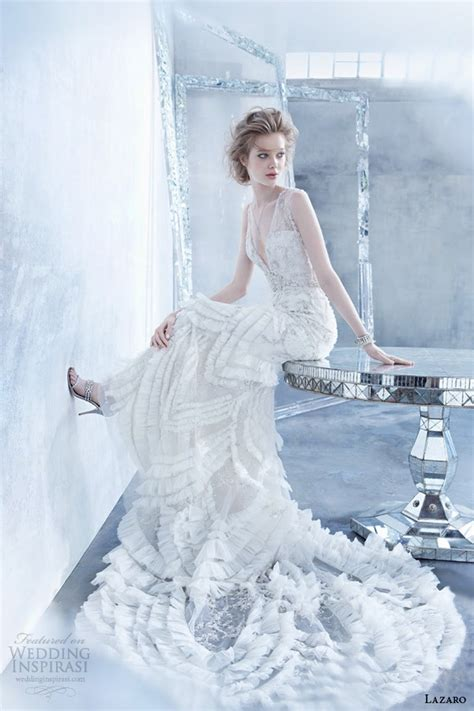 wedding dresses deco style lazaro fall 2014 wedding dresses wedding inspirasi