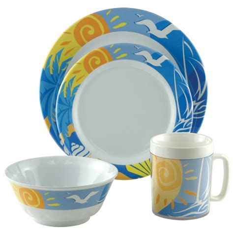 boat dinnerware set galleyware 16 piece dinnerware set west marine boat