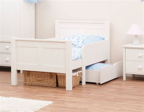toddler bed age range classic kids white bedroom range by stompa