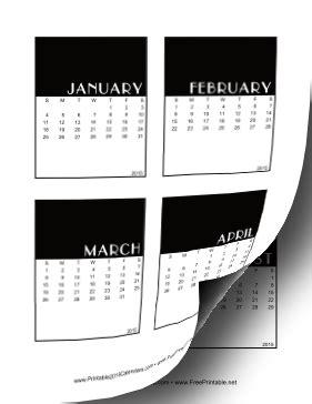 printable calendar vertical 2015 printable 2015 vertical scrapbook calendar cards