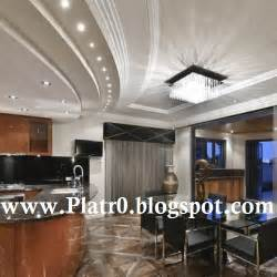 decoration plafond salon moderne 2016