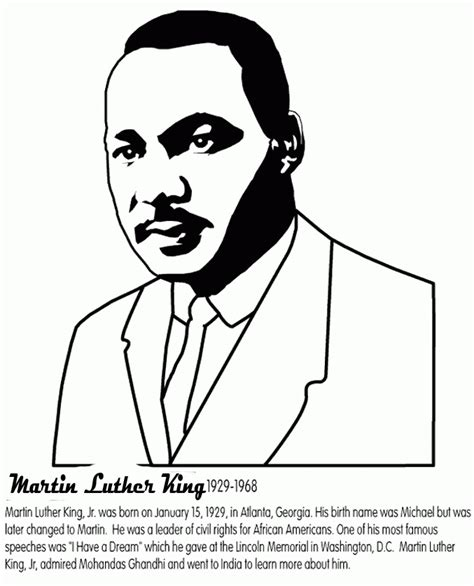 martin luther king coloring pages martin luther king jr coloring pages for coloring home