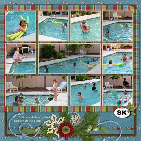 scrapbook layout ideas for multiple pictures 214 best scrapbooking pool time images on pinterest