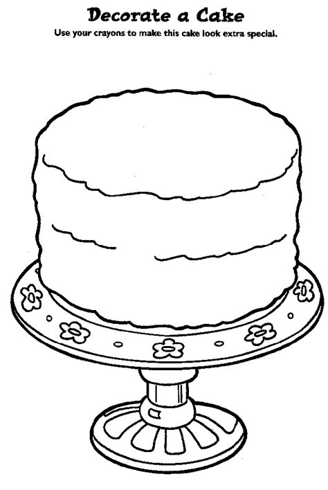 Coloring Page Cake Decorating disney coloring pages birthday cake decorating