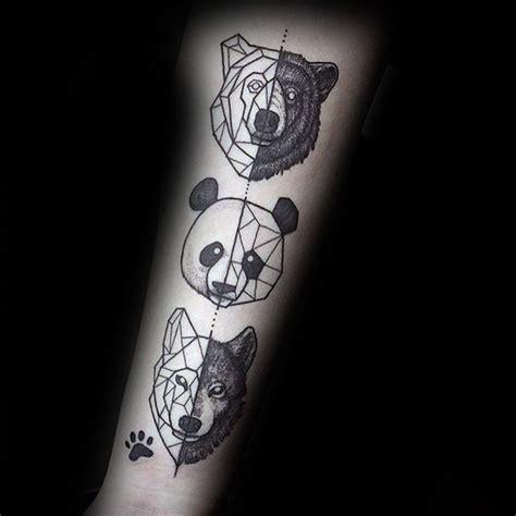 tattoo panda geometrico 100 panda bear tattoo designs for men manly ink ideas