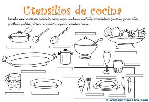 imagenes utensilios de cocina en ingles utensilios de cocina actividades web del maestro