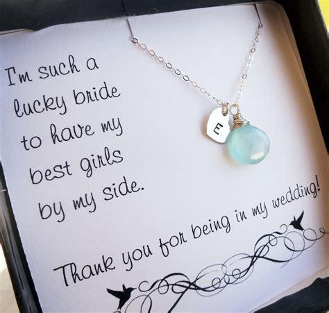Personalized Bridesmaid gifts THREE bridesmaid thank you