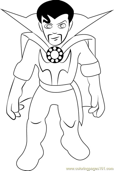 doctor strange coloring page dr strange coloring page free the super hero squad show