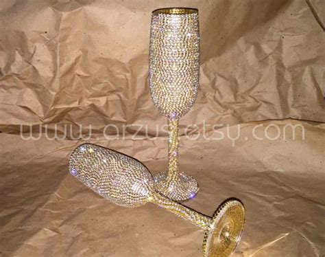 Handmade Wedding Gifts For The And Groom - custom wedding chagne glasses toasting glasses toasting