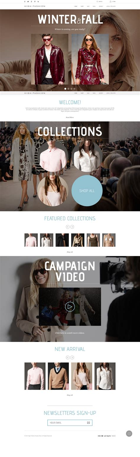 shopify themes parallax high fashion responsive shopify theme parallax by