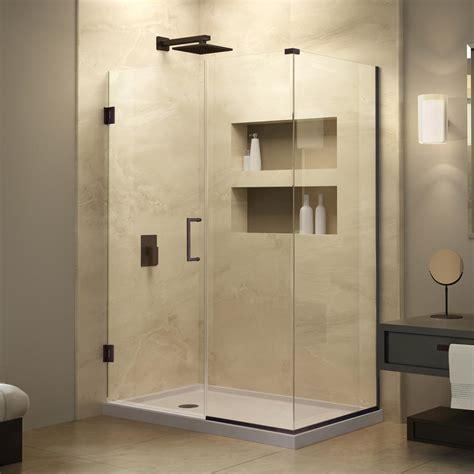 Shower Door Store Dreamline Unidoor Plus 39 1 2 In X 72 In Semi Frameless Corner Hinged Shower Door In