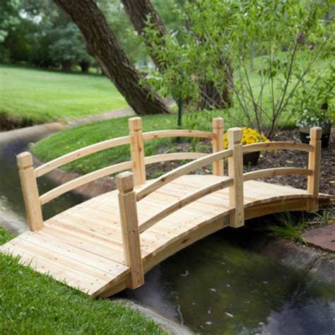 Garden Bridge by Coral Coast Harrison 6 Ft Wood Garden Bridge Garden