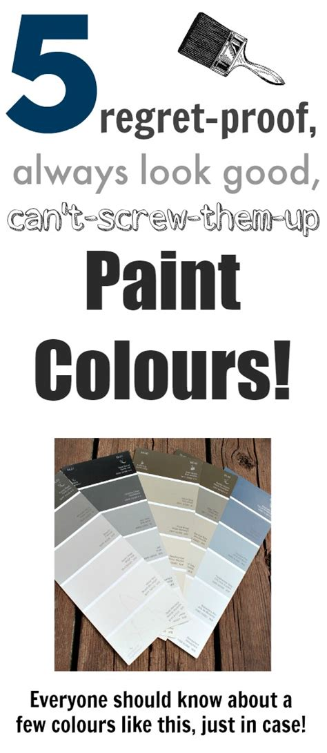 5 no fail paint colours the creek line house