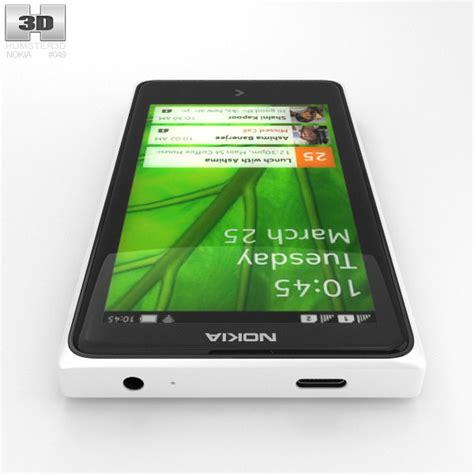 White Nokha nokia x white 3d model humster3d