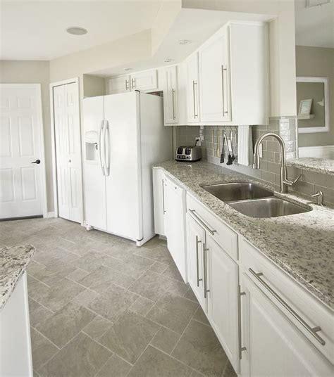 grey kitchen cabinets backsplash quicua com white cabinets gray subway tile kashmir white granite
