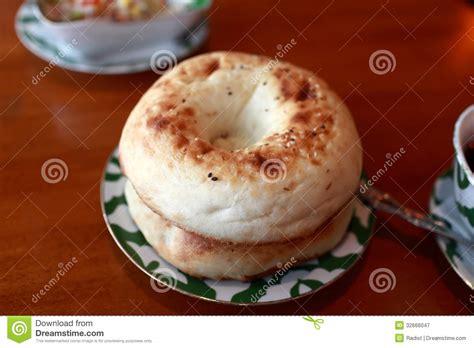 uzbek bread flat uzbek flat bread royalty free stock photography image