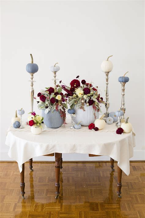 DIY Fall Tablescape with Painted Pumpkins   WEDDINGS