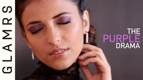 eyeliner tutorial glamrs sultry plum purple eye makeup look for indian skin tones