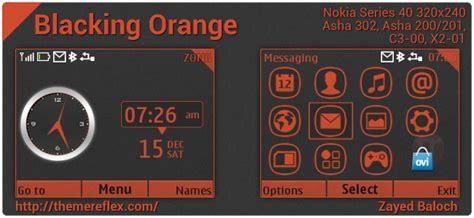 themes untuk nokia 302 blacking orange c3 asha302 theme by zb j