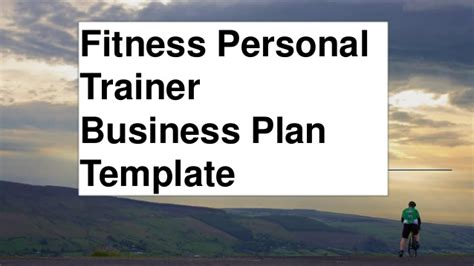 Fitness Personal Trainer Business Plan Anytime Fitness Business Plan Template