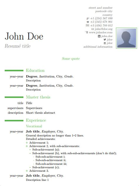 tex resume templates resume cv tex template jobsxs