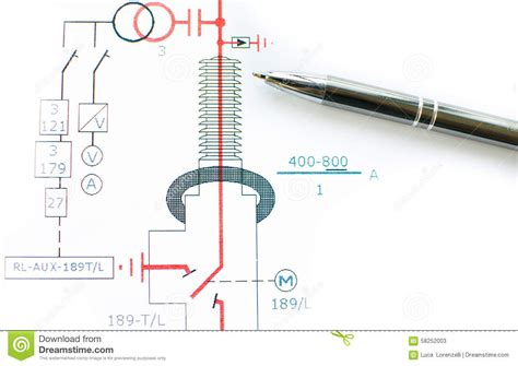 draw scheme draw electric scheme stock photo image 58252003