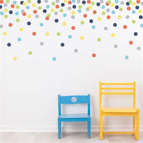 wall stickers dots 121 polka dot wall decals navy orange green gray yellow eco friendly