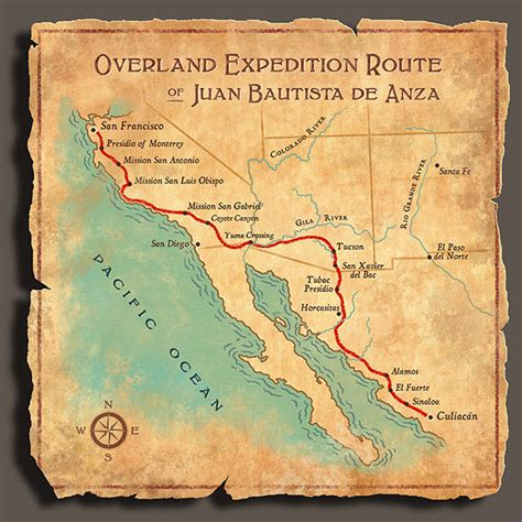 de anza map de anza historic trail blm conservation by design on behance