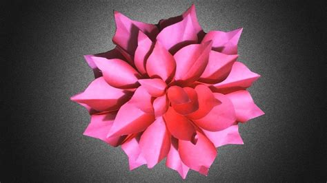 Origami Flower For Beginners - origami dahlia flower easy origami