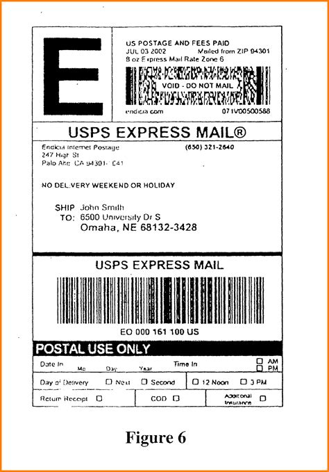 6 usps shipping label template introduction letter