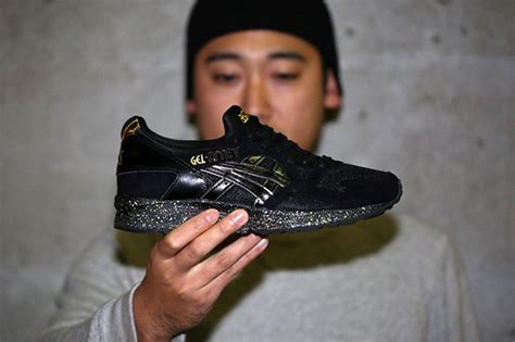 Asics X Atmos Gel Lyte V Black Gold atmos asics gel lyte v black gold sneakerfiles