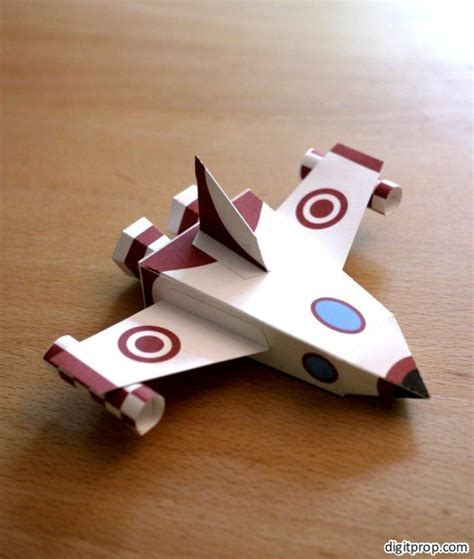 Spaceship Papercraft - kid friendly papercraft spaceship digitprop paper design