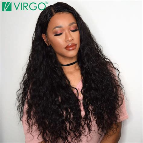 brazilian water wave virgin hair with closure wet and wavy hair 3 hair extensions pony tail picture more detailed picture