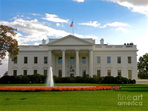 the white house front door fall at the front door of the white house photograph by
