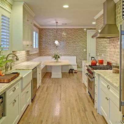 kitchen layout ideas galley galley kitchen w bench seating feels like home pinterest