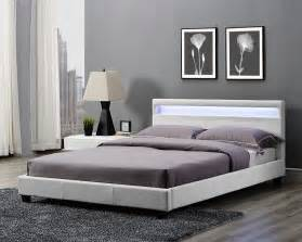 King Size Bed Frame With Headboard King Size Bed Frame Led Headboard Light And Mattress Stylish Design Ebay