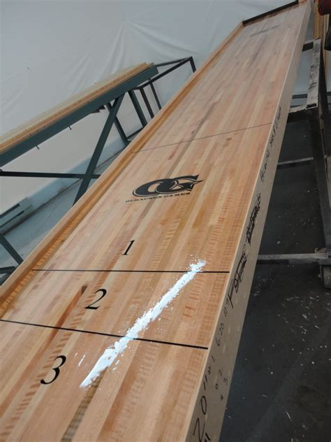 shuffleboard tables for sale costco olhausen shuffleboard table an overview game room thoughts