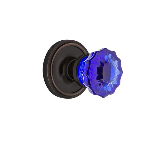 Home Depot Glass Door Knobs Prime Line 2 In Classic Bronze Fluted Glass Door Knob E 2537 The Home Depot