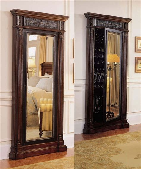 jewelry armoire mirrored hooker furniture seven seas floor mirror with jewelry armoire furniture pinterest