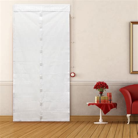 mosquito magnetic door curtain white mosquito insect defend door mesh curtain net