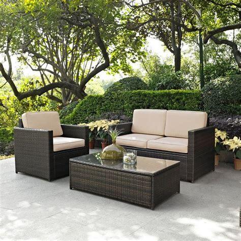 sand  brown  piece wicker furniture set palm harbor