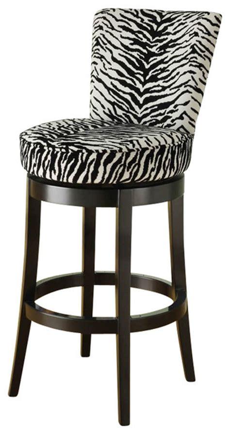 zebra bar chairs armen living boston 26 inch black zebra fabric swivel