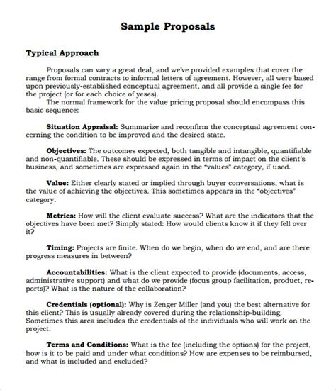 sle formal proposal template 28 free documents in