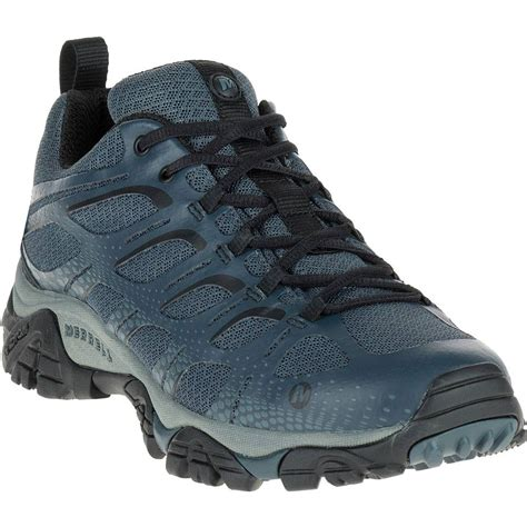 merrell sports shoes merrell moab edge mens blue outdoors walking cing