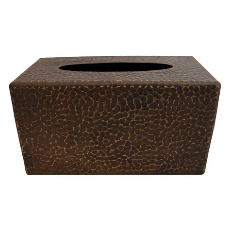 Small Tissue Box 2 premier copper products large hammered copper tissue box cover in rubbed bronze tbcldb